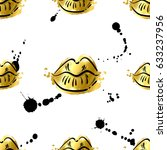 vector abstract seamless... | Shutterstock .eps vector #633237956