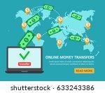 online money transfer concept... | Shutterstock . vector #633243386