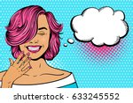 wow pop art female face. sexy... | Shutterstock .eps vector #633245552