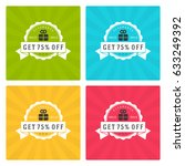 sale banners or badges vector... | Shutterstock .eps vector #633249392