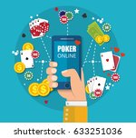 online mobile casino background.... | Shutterstock .eps vector #633251036