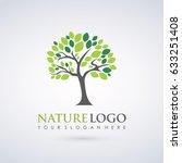 nature tree logo template.... | Shutterstock .eps vector #633251408