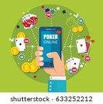 online mobile casino background.... | Shutterstock .eps vector #633252212