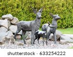 Statue Of The Deer In The Park. ...