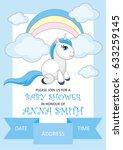 baby shower invitation template ... | Shutterstock .eps vector #633259145