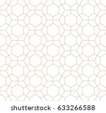 hexagon geometric line grid... | Shutterstock .eps vector #633266588