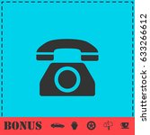 phone icon flat. simple...