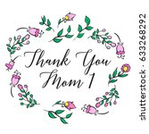 greeting card mother day... | Shutterstock .eps vector #633268292