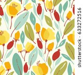 seamless floral pattern with... | Shutterstock .eps vector #633272516