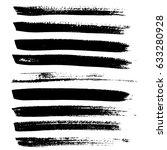 ink vector brush strokes.... | Shutterstock .eps vector #633280928