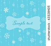 retro snowflakes card in blue | Shutterstock .eps vector #63328405