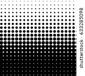 halftone dot pattern  element ... | Shutterstock .eps vector #633285098
