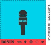 reporter microphone icon flat.... | Shutterstock . vector #633286046