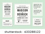 wedding invitation design set... | Shutterstock .eps vector #633288122