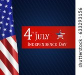 fourth of july independence day ... | Shutterstock .eps vector #633293156