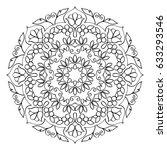 floral mandala round pattern....   Shutterstock .eps vector #633293546