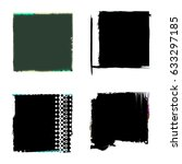set of black grunge banner or... | Shutterstock . vector #633297185