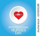 vector international nurse day...   Shutterstock .eps vector #633303188