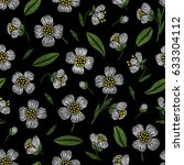 embroidery seamless floral... | Shutterstock .eps vector #633304112