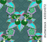 exquisite pattern with flowers  ... | Shutterstock . vector #633314372
