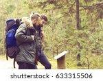 two handsome  bearded men... | Shutterstock . vector #633315506