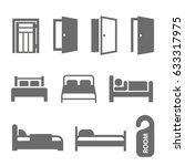 hotel icons set. | Shutterstock .eps vector #633317975