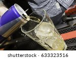 energy drink being poured at a... | Shutterstock . vector #633323516
