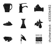 set of icons on the theme of... | Shutterstock .eps vector #633336482