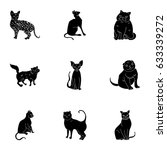 collection of cats in one... | Shutterstock .eps vector #633339272