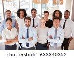 portrait of business team in...   Shutterstock . vector #633340352