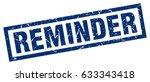 square grunge blue reminder... | Shutterstock .eps vector #633343418