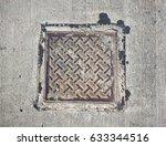 rusty pipe cap that is... | Shutterstock . vector #633344516