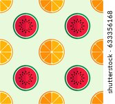 tiled seamless pattern of... | Shutterstock .eps vector #633356168