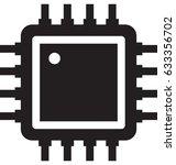 Processor Chip Vector Icon