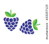 blackberry vector | Shutterstock .eps vector #633357125