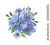 wildflower cherry flower in a... | Shutterstock . vector #633363602