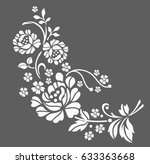 flower motif sketch for design | Shutterstock .eps vector #633363668