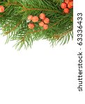 christmas green framework and ... | Shutterstock . vector #63336433