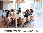 group of businesspeople sitting ... | Shutterstock . vector #633365042