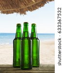 Refreshing Cold Beer Bottles O...