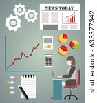 infographics elements pack with ... | Shutterstock .eps vector #633377342