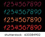 colored numbers in different... | Shutterstock .eps vector #633384902