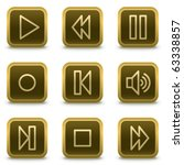 walkman web icons  square brown ... | Shutterstock .eps vector #63338857
