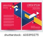 vector brochure  flyer template ... | Shutterstock .eps vector #633393275