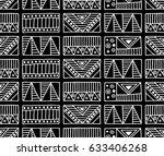 seamless vector pattern. black... | Shutterstock .eps vector #633406268