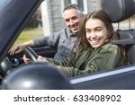 a teen learning to drive or... | Shutterstock . vector #633408902