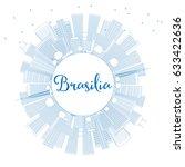 outline brasilia skyline with... | Shutterstock .eps vector #633422636