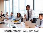 businessman stands to address... | Shutterstock . vector #633424562