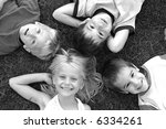 four faces in black and white | Shutterstock . vector #6334261