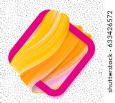 logo brush painted orange... | Shutterstock .eps vector #633426572